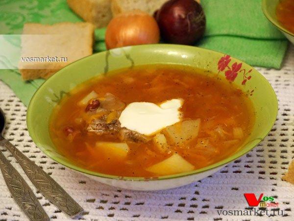 Фото готового блюда: Суп из консервированной фасоли