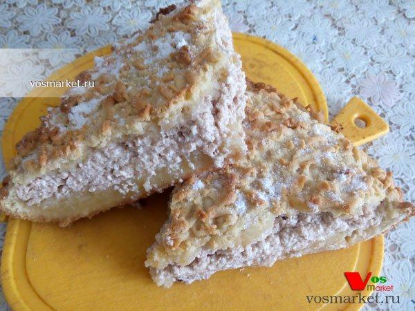 Фото готового блюда: Творожный торт-десерт