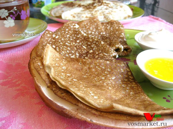 Фото готового блюда: Вкусные блины на молоке