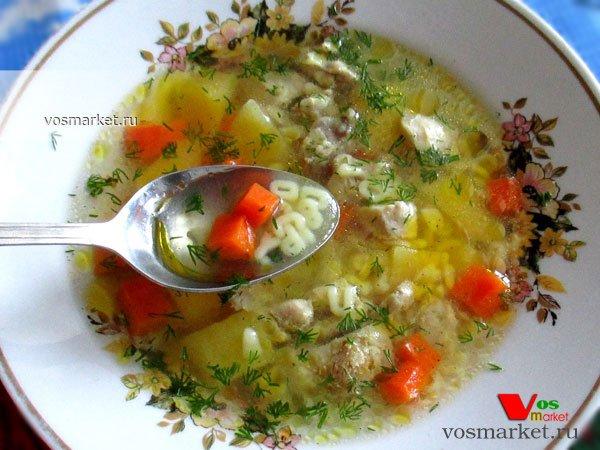 Фото готового блюда: Куриный суп для детей