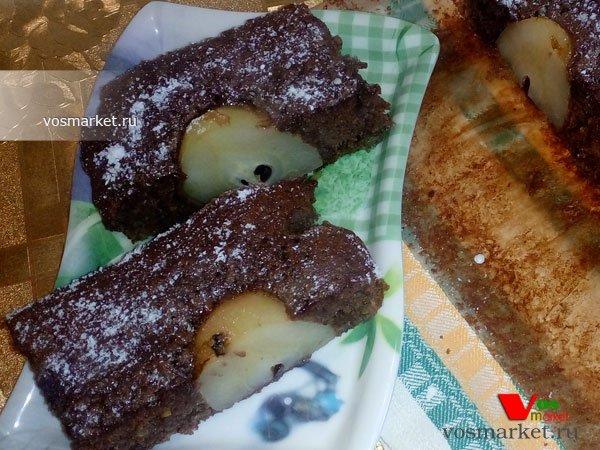 Фото готового блюда: Пирог с грушей