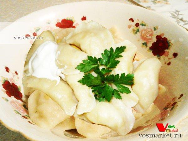 Фото готового блюда: Вареники с картошкой