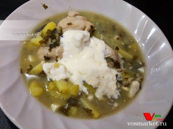 Фото готового блюда: Щавелевый суп