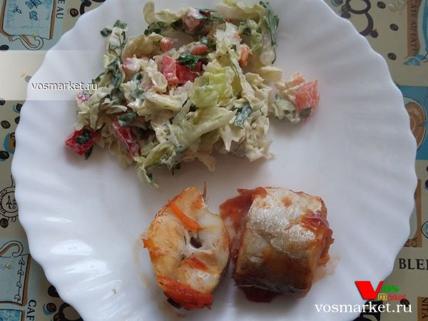 Фото готового блюда: Салат из пекинской капусты