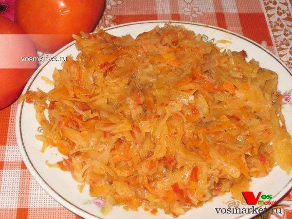 Фото готового блюда: Тушеная капуста