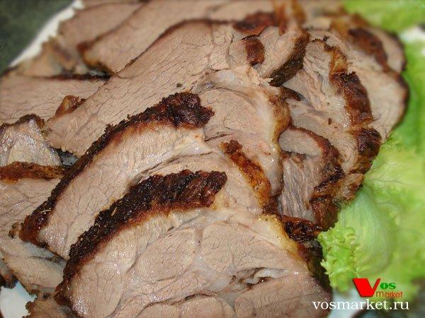 запеченная свиная шея в духовке в рукаве рецепт с фото