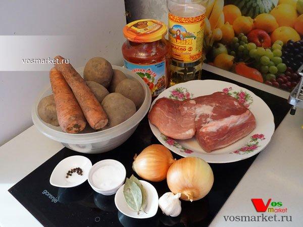 Фото к блюде Жаркое из свинины