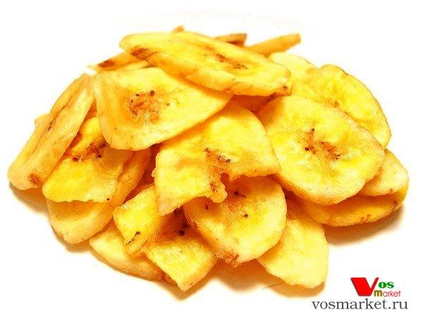 Фото готового блюда: Банановые чипсы в духовке