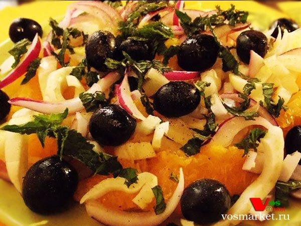 Фото готового блюда: Салат с апельсинами