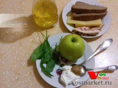 Ингредиенты для рецепта бутерброда с сыром