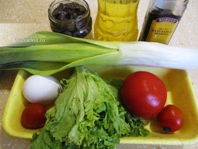 Ингредиенты для грибного салата