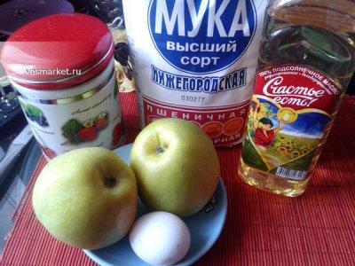 Ингредиенты для яблочных оладьев