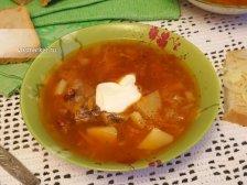 Фото к двенадцатому шагу приготовлению рецепта Суп из консервированной фасоли