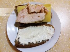 Фото приготовления Горячие бутерброды