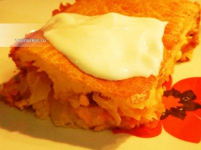 Главное фото рецепта Наливной пирог с капустой