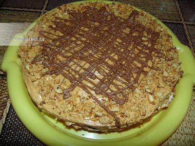 Главное фото рецепта Домашний торт из коржей