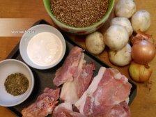 Фото к блюде Гречка с мясом в духовке