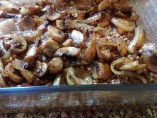 Фото к пятому шагу приуготовлению рецепта Гречка с мясом в духовке