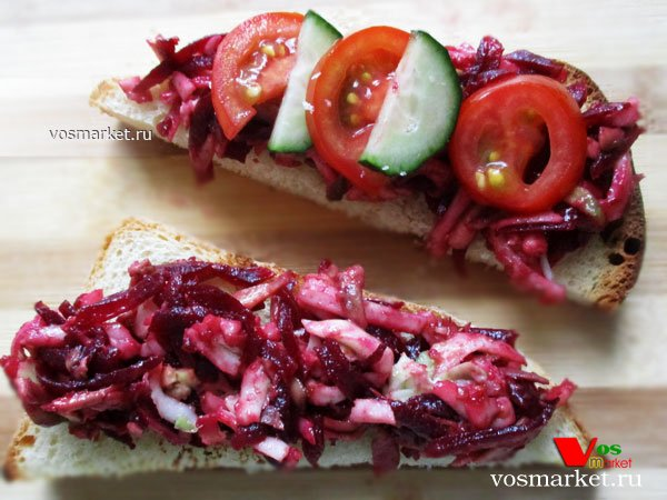 Фото готового блюда: Бутерброд с сыром и авокадо