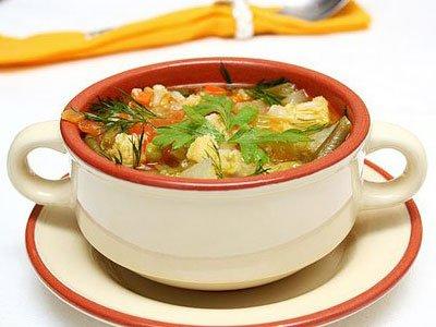 Главное фото рецепта Постный суп с овощами