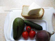 Ингредиенты для приготовления бутерброда