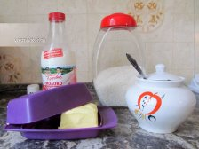 Ингредиенты молочной каши с рисом
