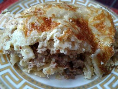 Главное фото рецепта Макаронник с фаршем и сыром