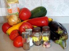 Ингредиенты для овощного ратутая
