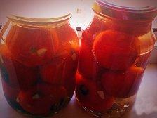 Фото к пятому шагу приуготовлению рецепта Жареные помидоры на зиму