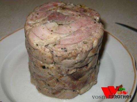 Ветчина из свинины в домашних условиях, рецепт с фото 14