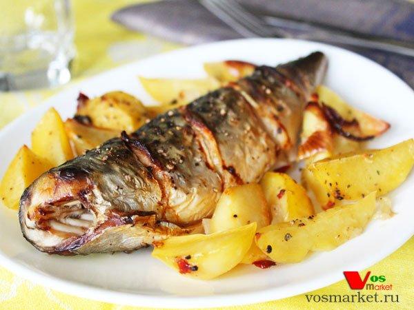 Главное фото рецепта Скумбрия с картошкой в духовке