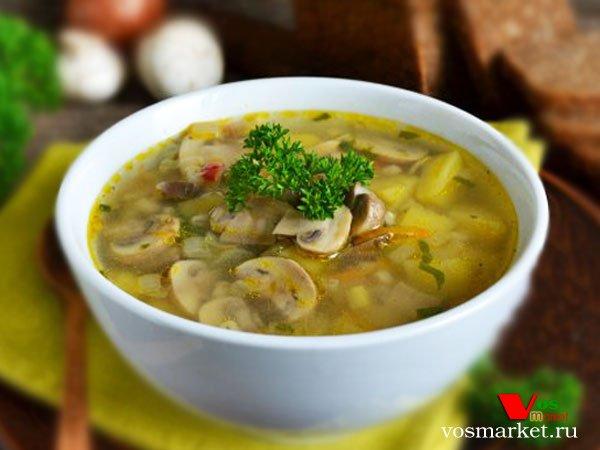 Главное фото рецепта Грибной суп с перловкой