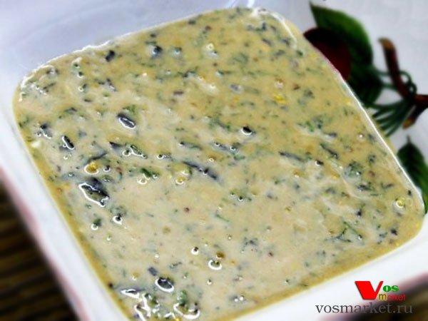 Главное фото рецепта Соус из горчицы с базиликом