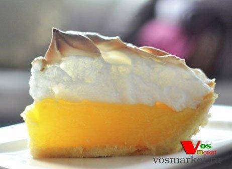 Фото Лимонный пирог с меренгой шаг 6