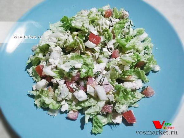 Главное фото рецепта Салат из пекинской капусты с курицей