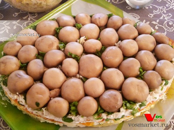 Главное фото рецепта Салат грибная поляна