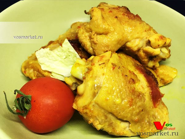 Главное фото рецепта Куриные бедра жареные с аджикой