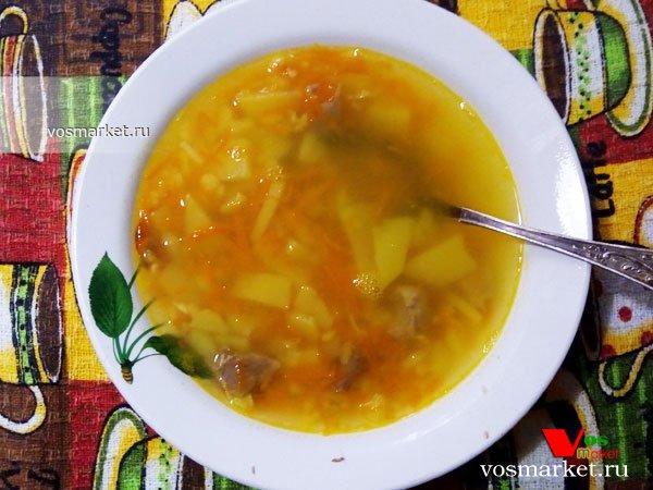 Фото Суп гороховый с мясом шаг 10