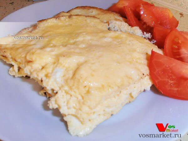 Главное фото рецепта Пышный омлет с молоком