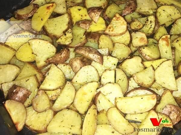 Главное фото рецепта Картофель дольками в духовке