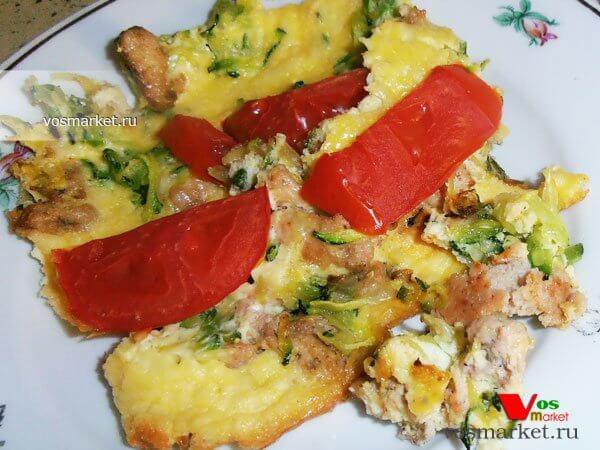 Главное фото рецепта Запеканка с фаршем и кабачками