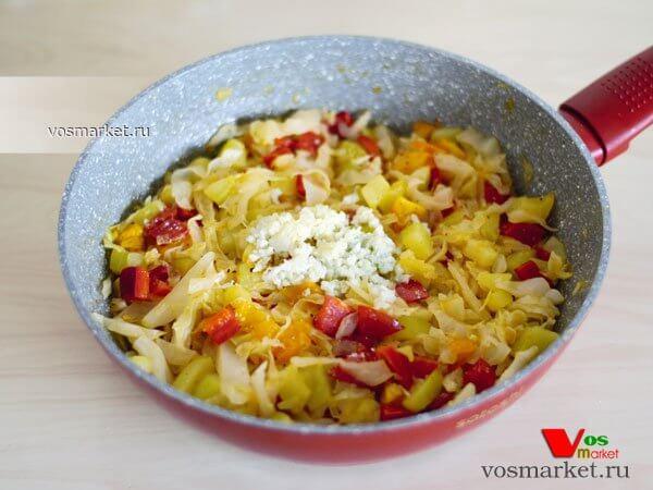 Фото Закуска из овощей на сковородке шаг 5