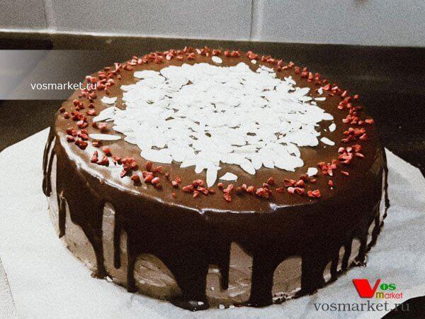 Фото Шоколадный бисквитный торт шаг 9