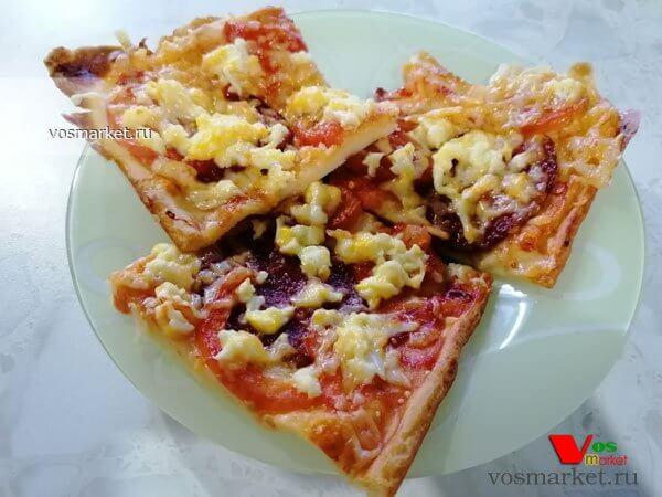 Главное фото рецепта Пицца на жидком тесте